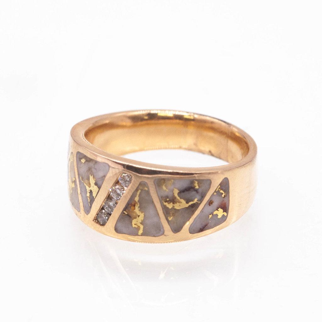 Gold Quartz Ring - RM883D20Q - 12
