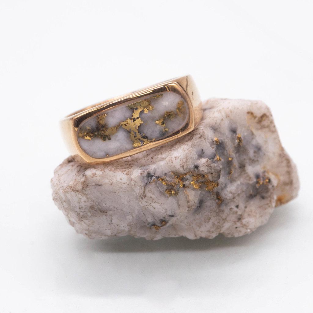 Gold Quartz Ring - 10.5 - RM816Q