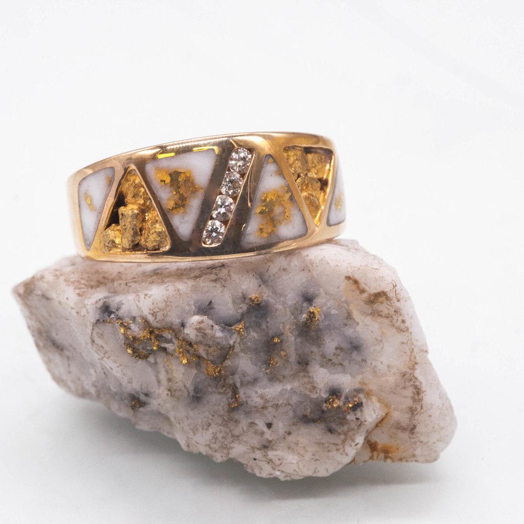 Gold Quartz Ring - RM883D20NQ - 12