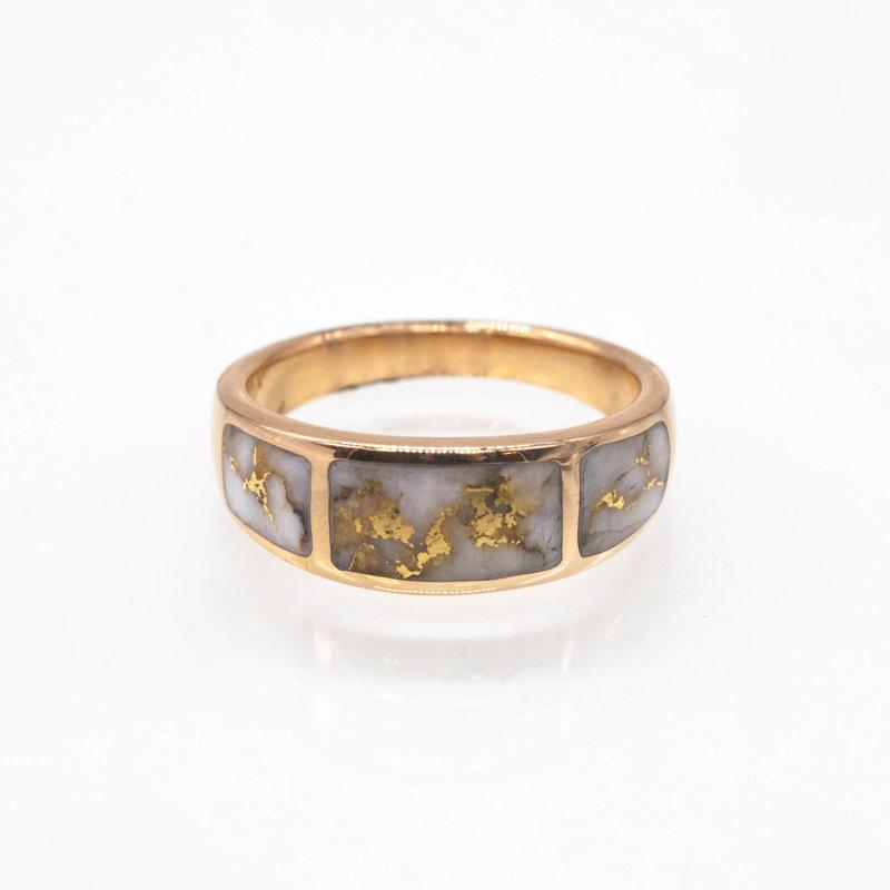 Gold Quartz Ring - RM733Q - 11.5