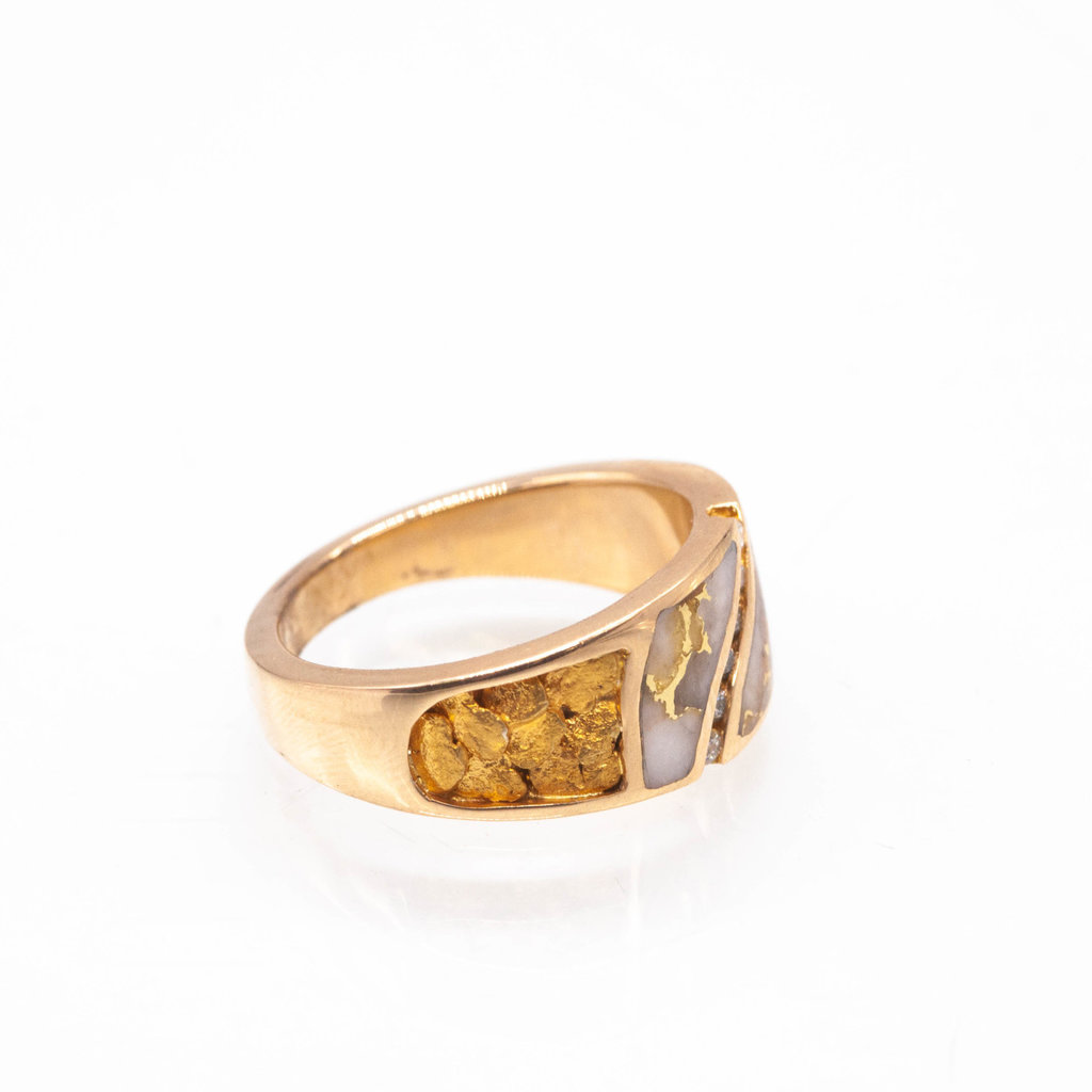 GOLD QUARTZ RING - RM731D14NQ - 10.5
