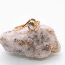 Gold Quartz Ring - RL649Q - 6.5