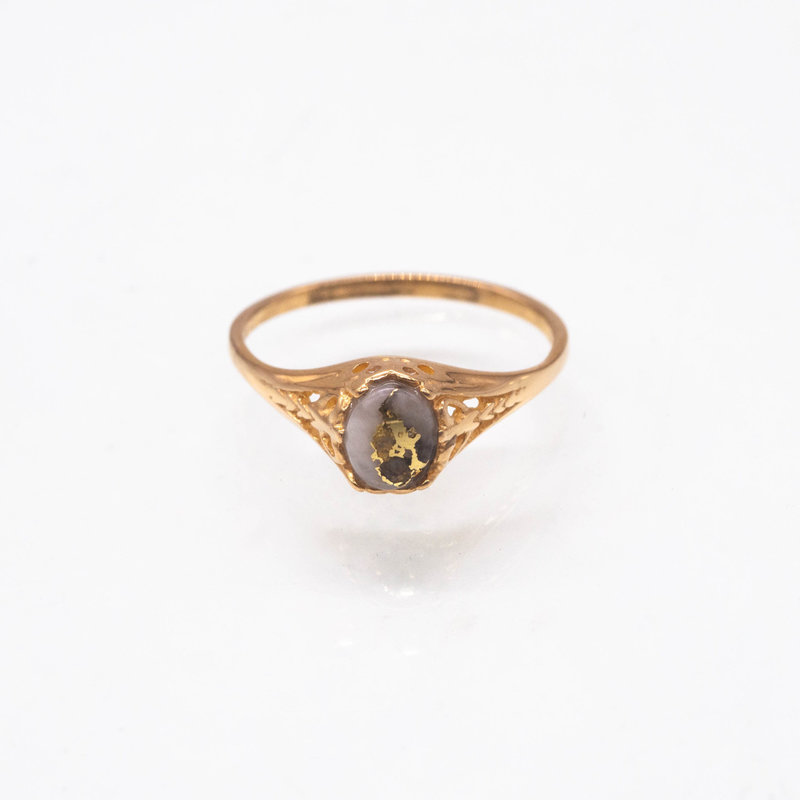 Gold Quartz Ring - RL790Q - 8
