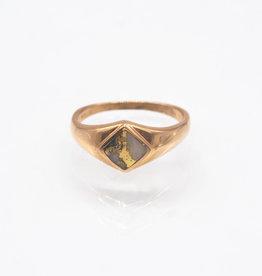 Gold Quartz Ring - RLBS1088Q - 6