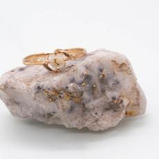 GOLD QURTZ RING - 789Q - 6.75