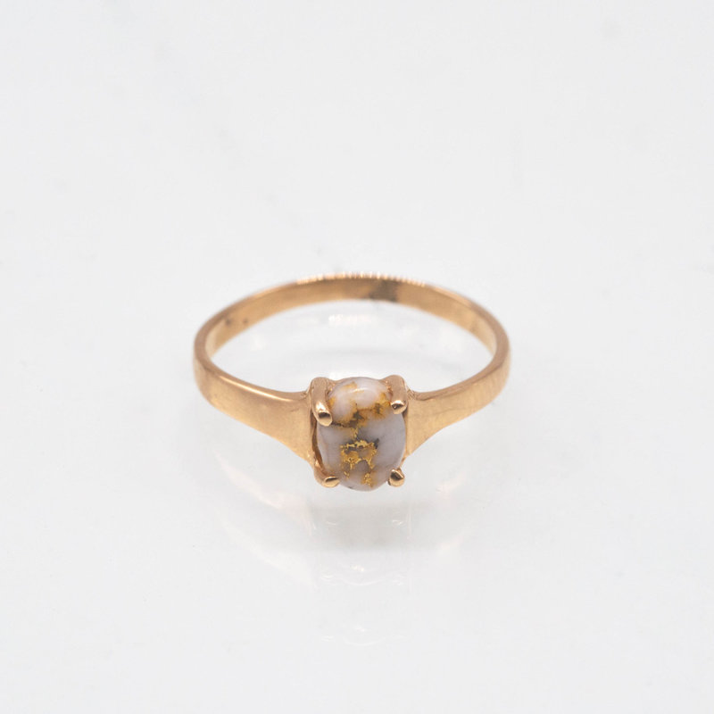 Gold Quartz Ring - RLDL19Q7*5 - 6.5