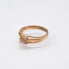 GOLD QUARTZ RING - RL787Q - 8