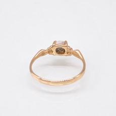 GOLD QUARTZ RING - RL681Q5MM - 7.25