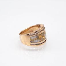 Gold Quartz Ring - RL892D60Q - 6