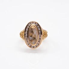 GOLD QUARTZ RING - RL1049DQ - 7.75