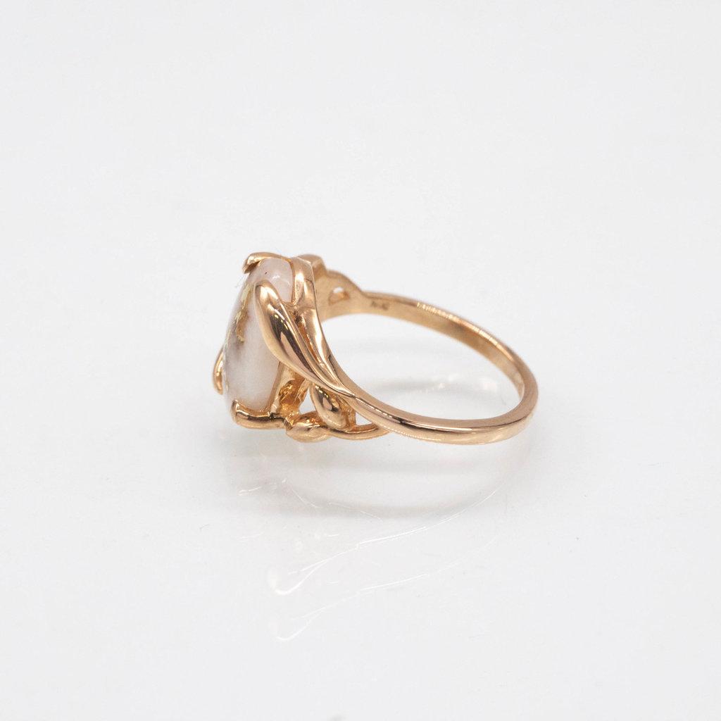 GOLD QUARTZ RING - RL1136Q - 6.75