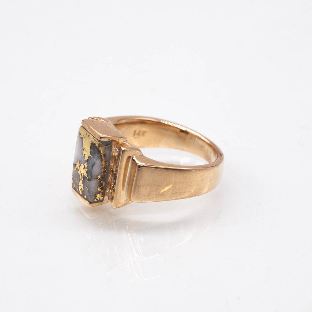 GOLD QUARTZ RING -  RL639D32Q - 7