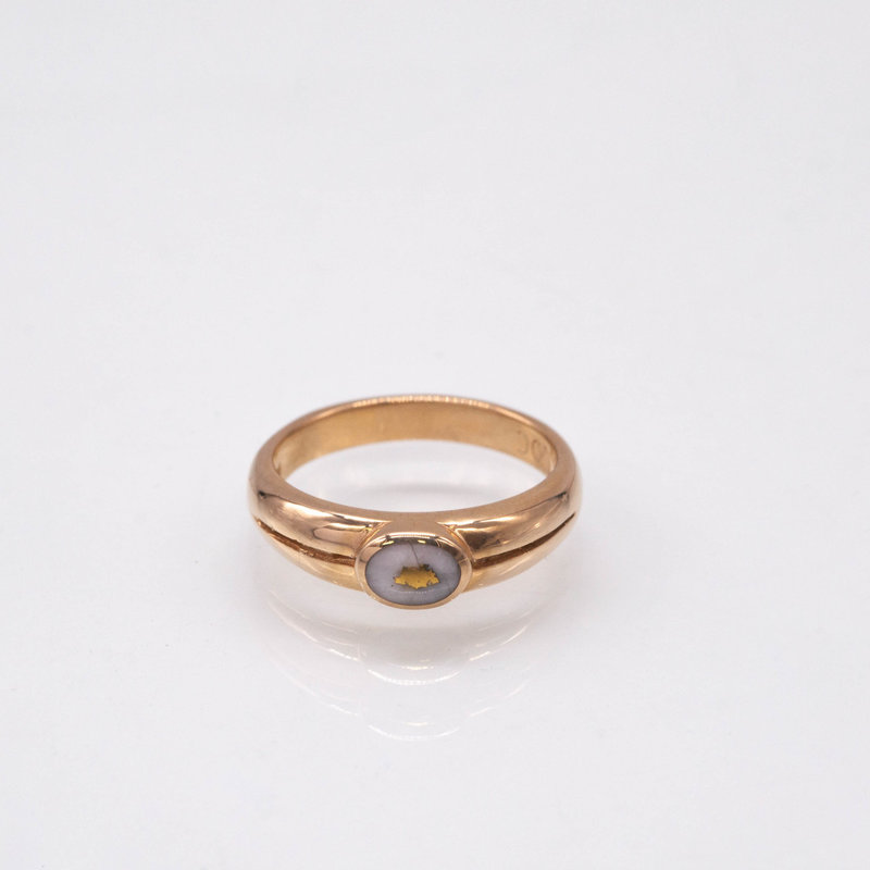 Gold Quartz Ring - RL942Q - 6.75