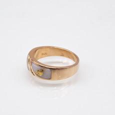 Gold Quartz Ring - RM610D10Q - 10.5