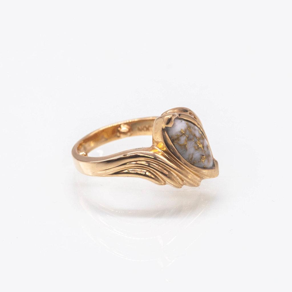 Gold Quartz Ring RL738D5Q - 4