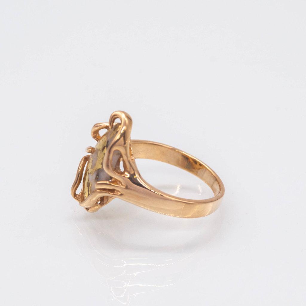 Gold Quartz Ring - RL1031Q - 7.25