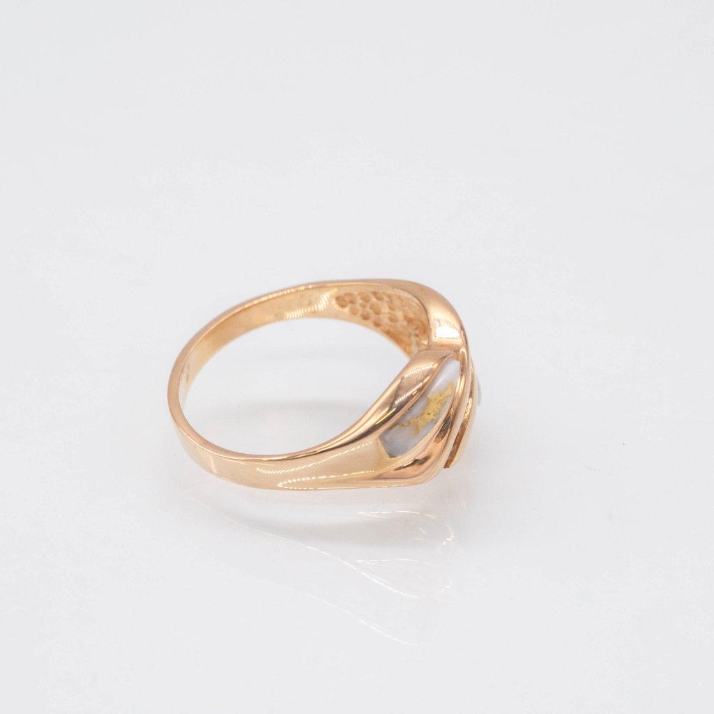 Gold Quartz Ring - RL1060Q - 7.5