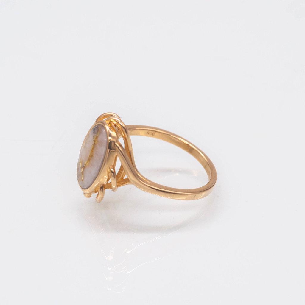 GOLD QUARTZ RING - RL754Q -(G4) -6.5
