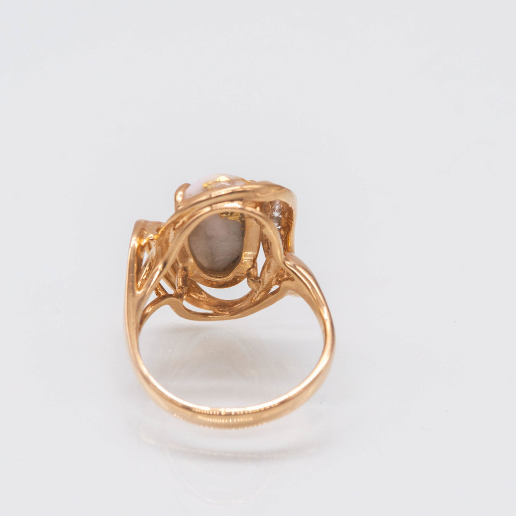 Gold Quartz Ring - RL1028DQ - 7.75