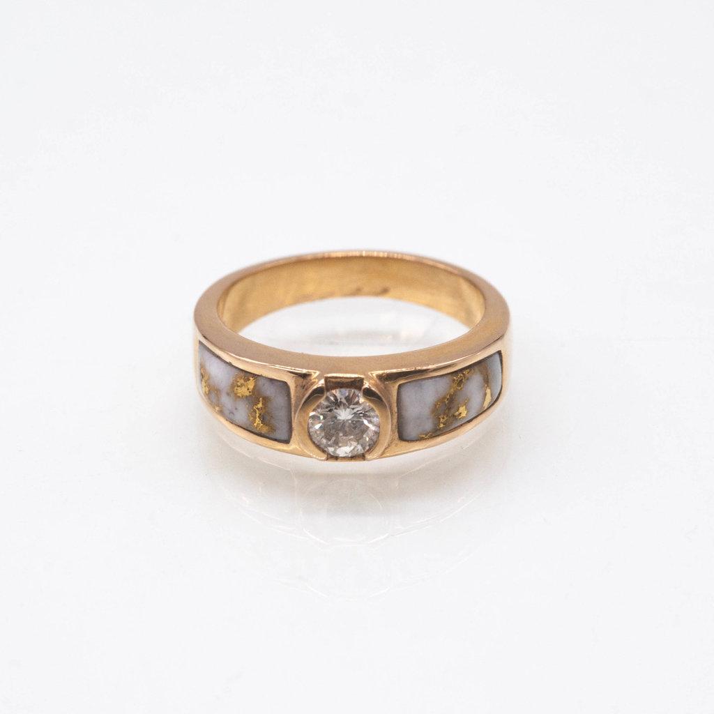 Gold Quartz Ring .33CT - RL728D33Q - 6.5