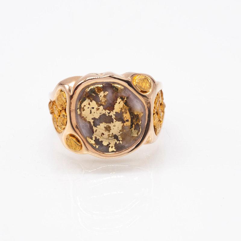 Gold Quartz Ring - RM518Q -10.5
