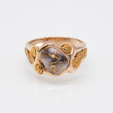 Gold Quartz Ring - RM654Q - 12
