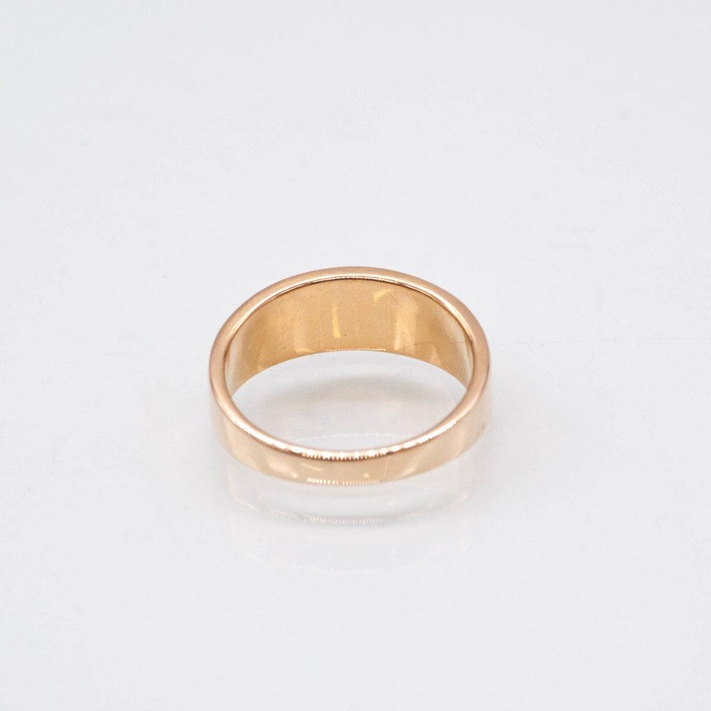 Gold Quartz Ring - RL7MMT - 6.25