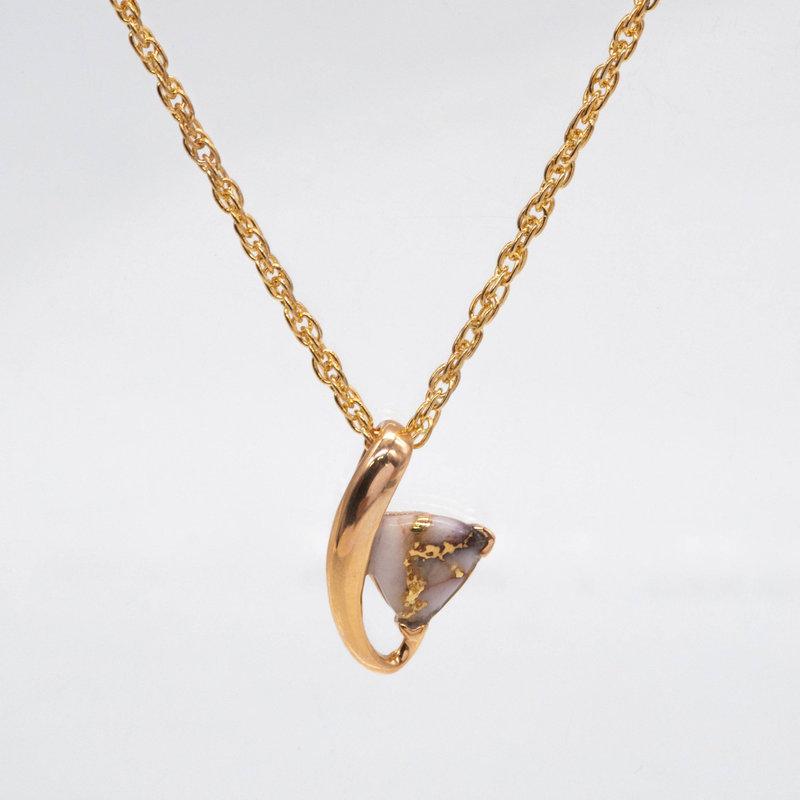 Gold Quartz Pendant - PN606QX