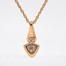Gold Quartz Pendent PBSP1340DQ