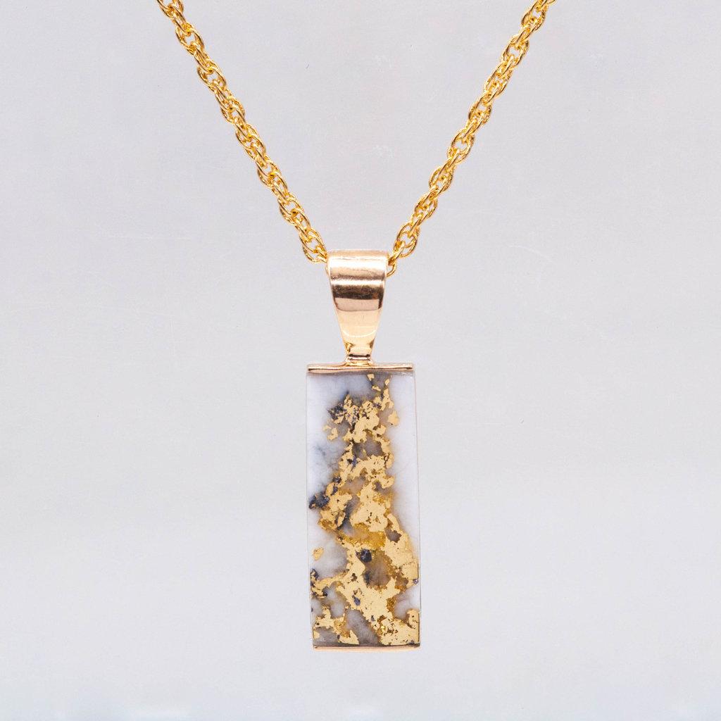 Gold Quartz Pendant PN894LQ