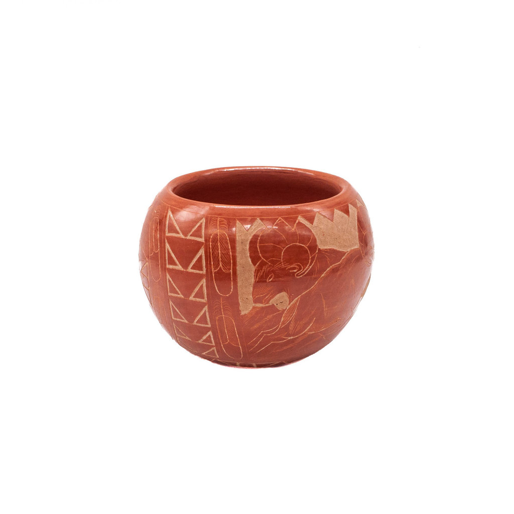 Hopi Hopi Etched Sheep Pot by Red Starr