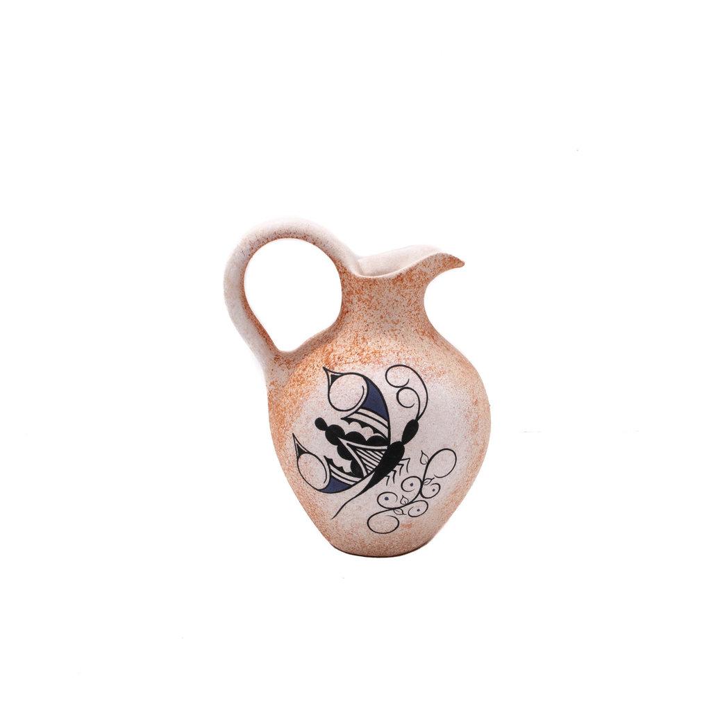 Zuni Zuni Butteryfly Vase Pottery by Tony Lorenzo, Zuni