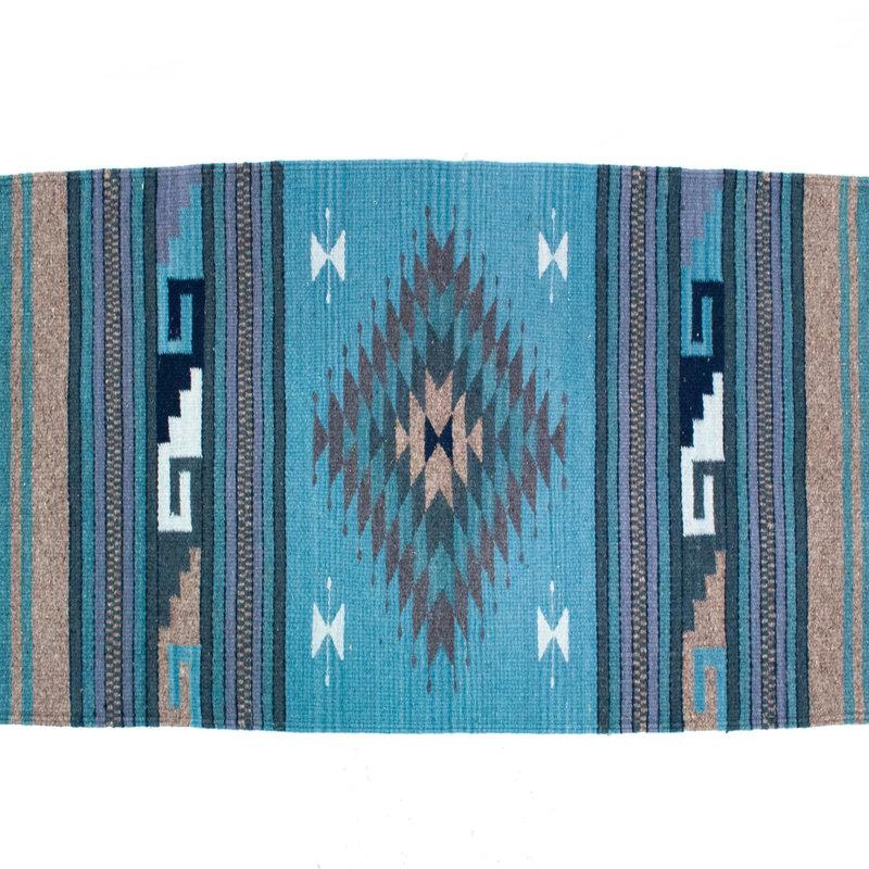 Blue Zapotec Rug 2' X 3'