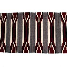 Red/Grey Zapotec Rug 2.5' X 5'