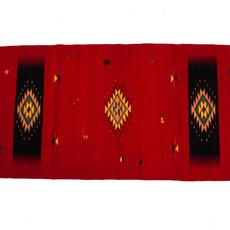 Bright Reds Zapotec Rug 2.5' X 5'