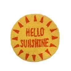 "Hello Sunshine 14"" round pillow"