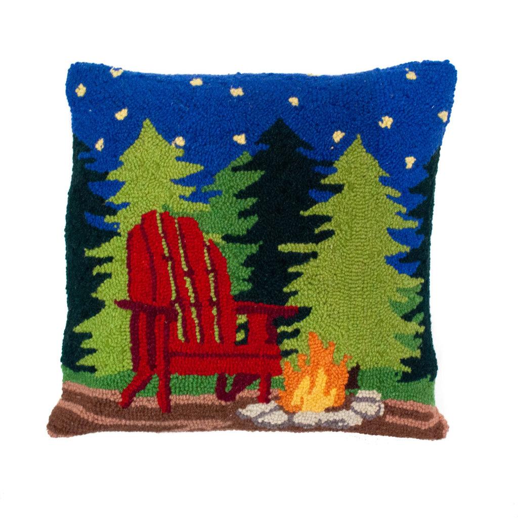 Campfire Scene Pillow 16x16