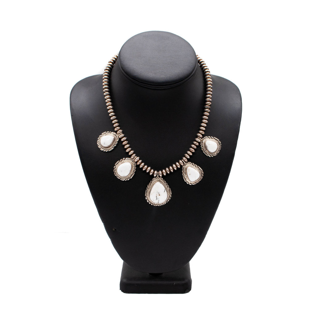 White Buffalo 5 stone Necklace
