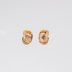 Gold Quartz Earrings EBS1114DQ