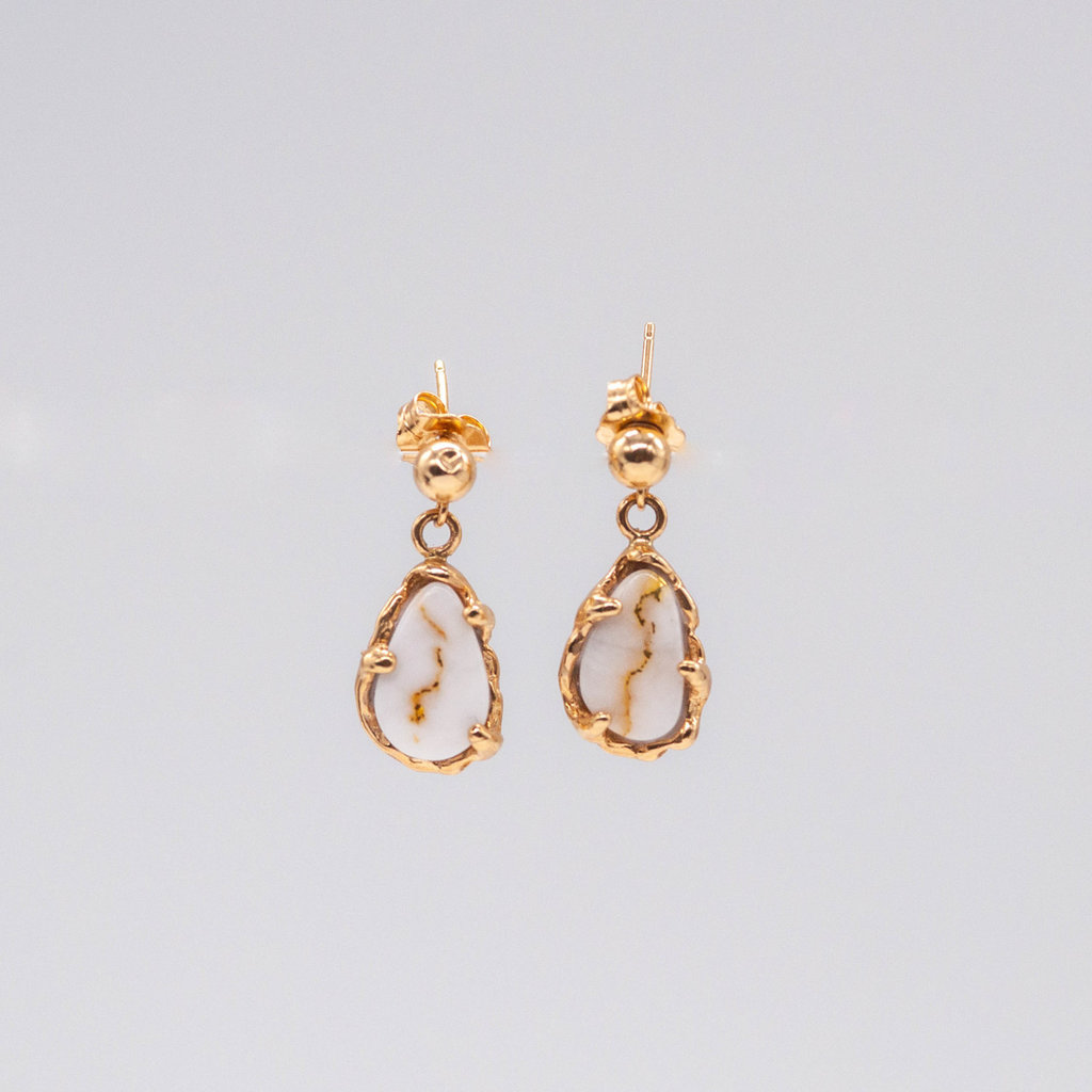 Gold Quartz Earrings EFFQ4/LB