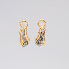 GOLD QUARTZ EARRINGS EDL116D20Q