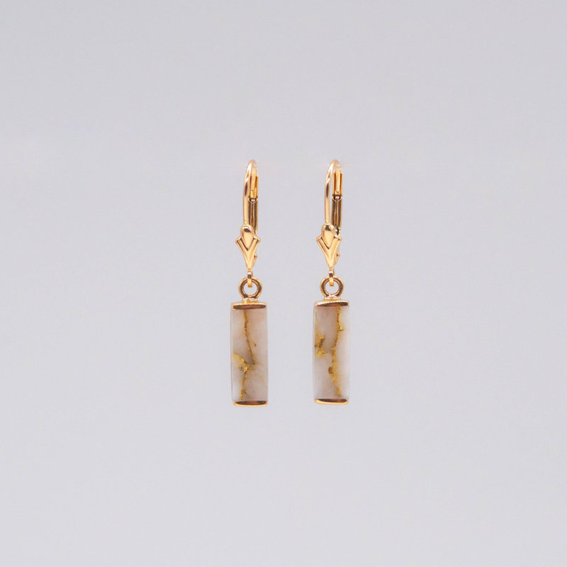 Gold Quartz Earrings EN894SQ/LB_1