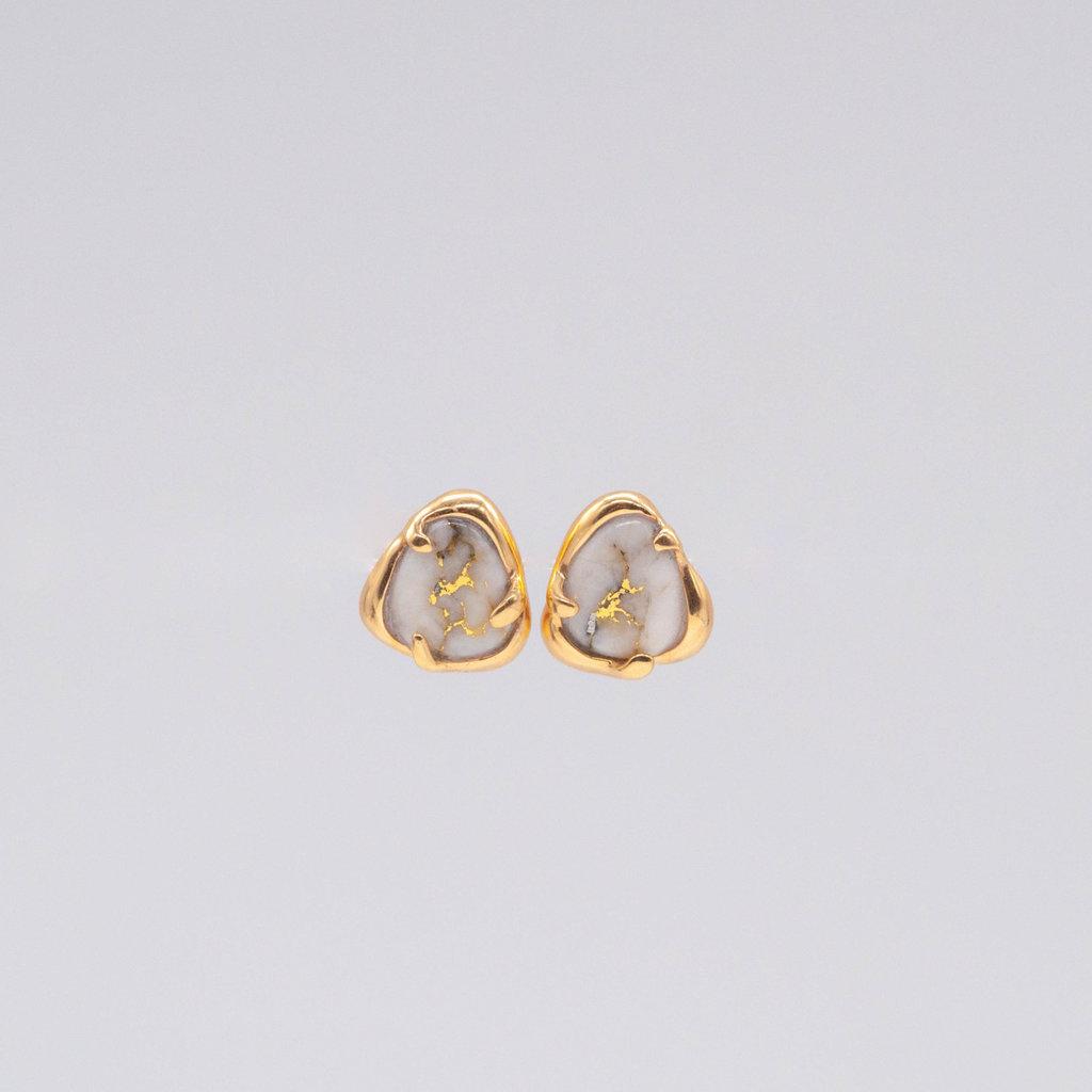 Gold Quartz Earrings ESC115XSQ