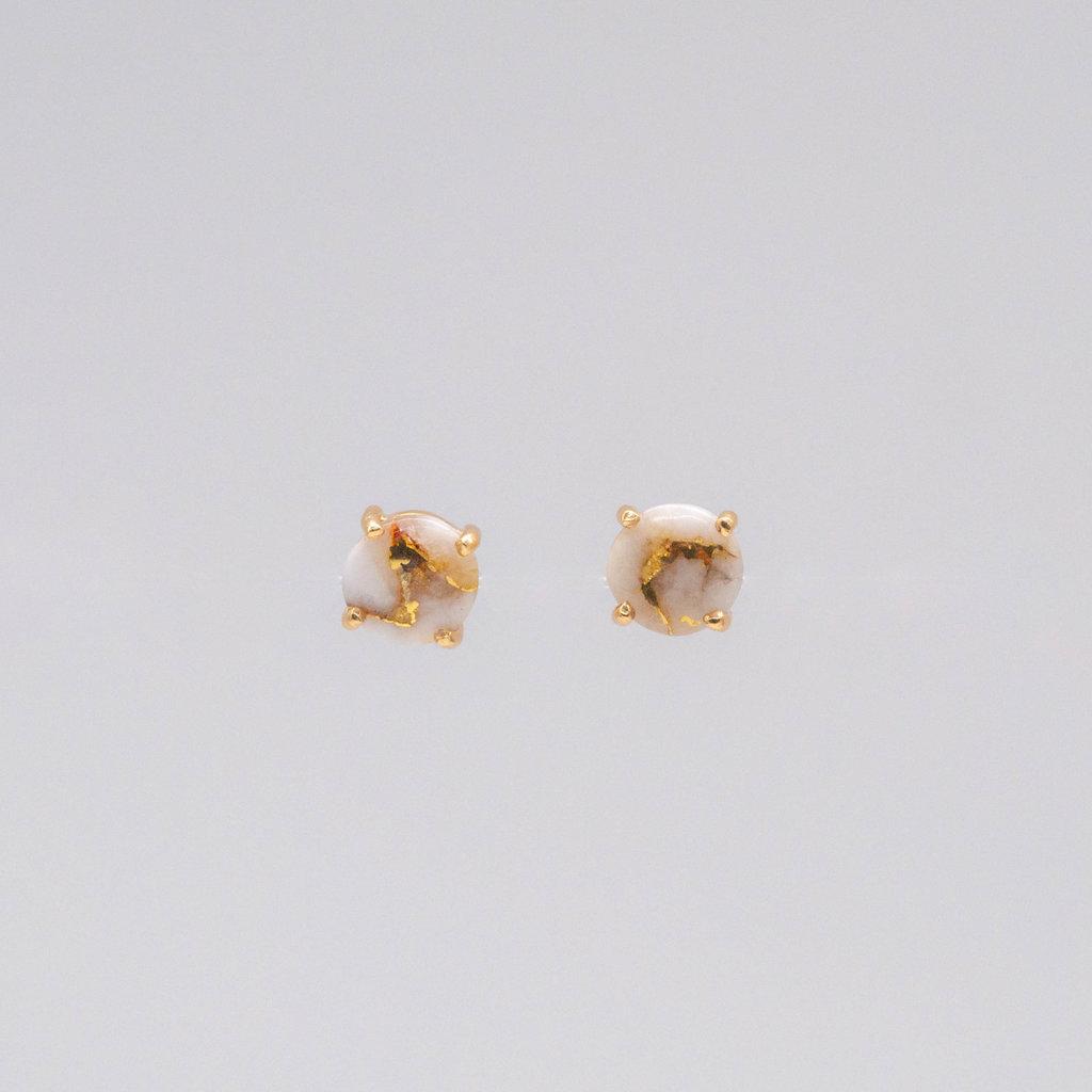 Gold Quartz Earrings EBMMQ