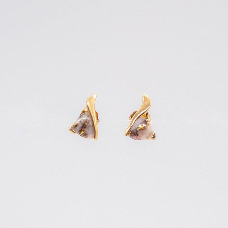 Gold Quartz Earrings EN872Q