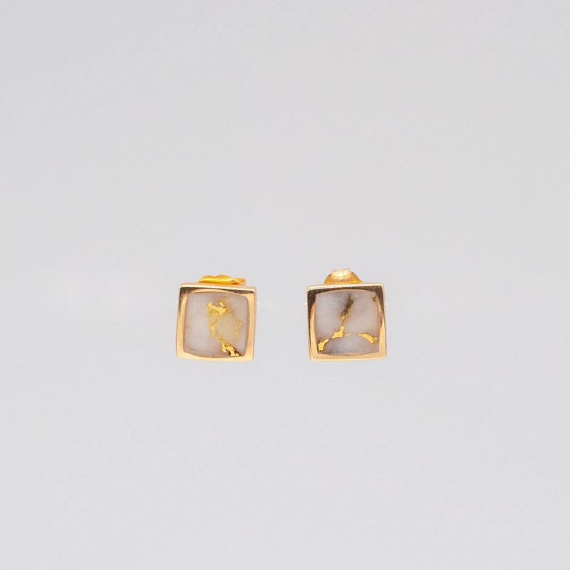 Gold Quartz Earrings_EBS11Q