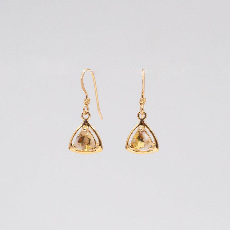 Gold Quartz Earrings -EN441Q/WD