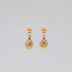 Gold Quartz Earrings EN442Q/PD