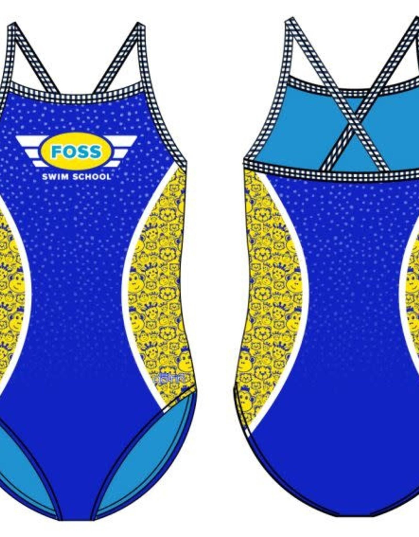 FOSS Girls Suit: Monkey, Tiger, Giraffe Print