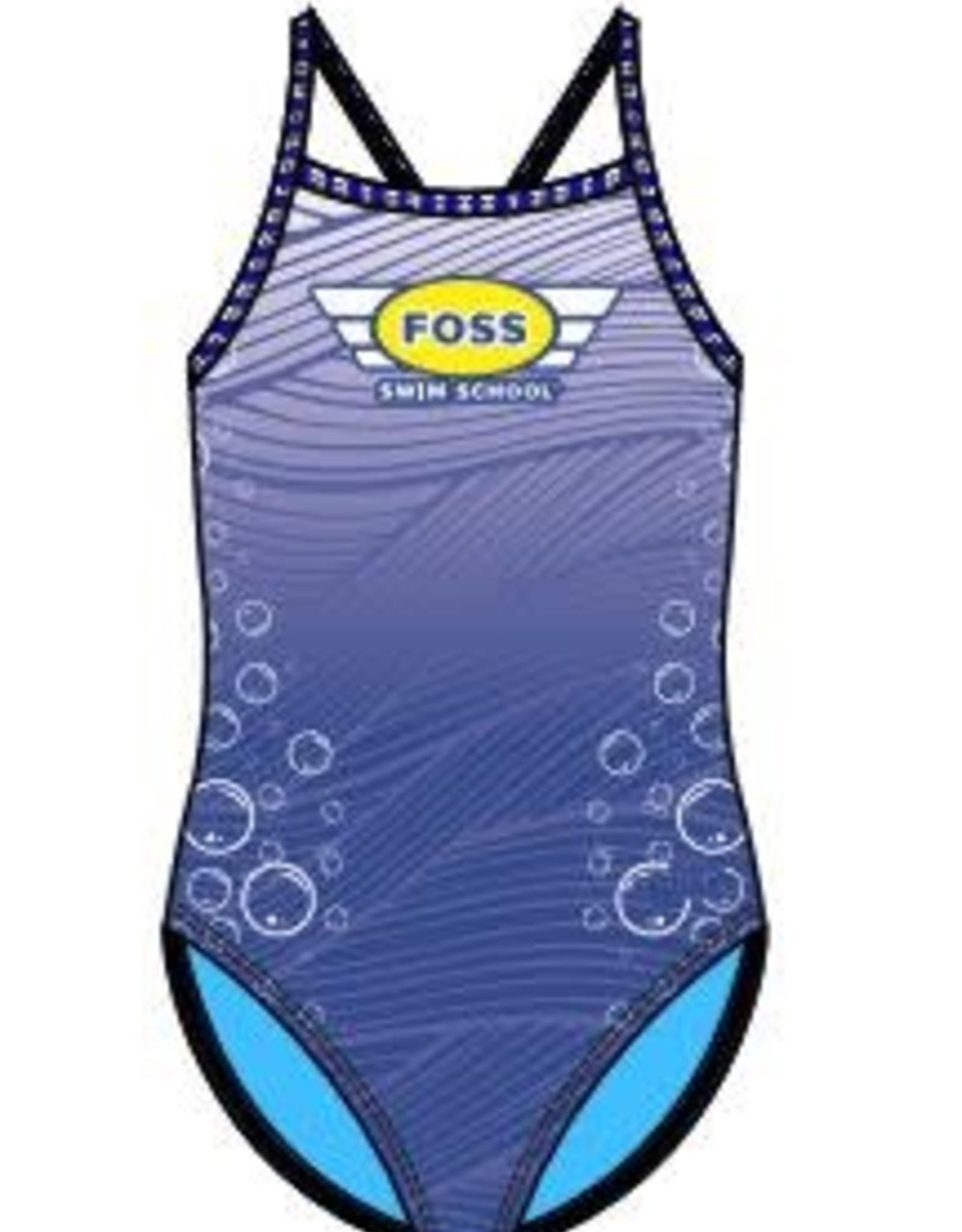 FOSS Girls Suit: Bubble Print (sizes 8-16)